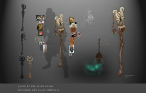 Staff of Shrunken Heads by AncientSources