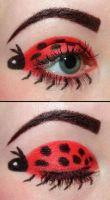 Ladybug eyeshadow by Creativemakeup
