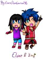 Request: Chibi Elaine X King by IperGiratina98
