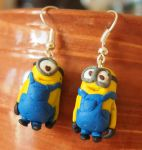 Minions earrings by MirachRavaia