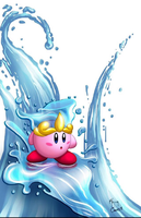 Kirby Water Ability  by scribblesartist