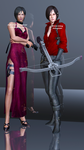 Ada Wong RE4 and RE6 Render by Ada-Momiji-Forever