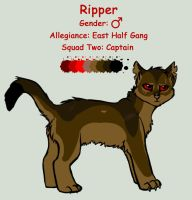 Captain Ripper Ref by InvaderTigerstar