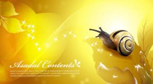 Free Vector Yellow Leaf snail background by vectorbackgrounds
