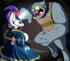 (MADE BY: THE-WAZZ) Warlock Rarity and an Ork Dog by TwilightIsMagic