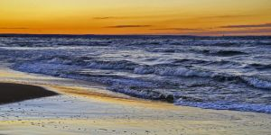 Sunset Over The Sea by CitizenFresh