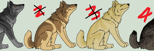 Wolf adoptables by KirinKade