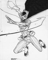 Sketchbook Batgirl by jeffwamester