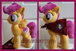 mlp plushie Cutie Mark Crusader Scootaloo by CINNAMON-STITCH