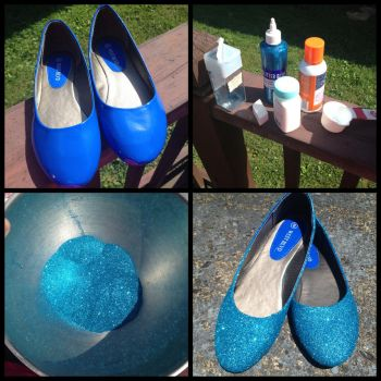 DIY Glitter Flats - The Basic Necessities by Voldenae