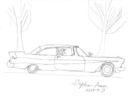 Sailor Jupiter's 1958 Plymouth by stephdumas