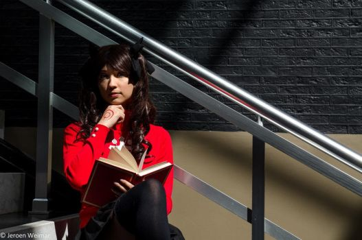 Reading up (Rin Tohsaka) by senseNcreativity