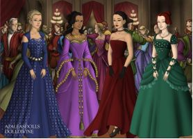 Grand Ball- The Girls by CeruleanAngel