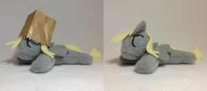 Pocket size Derpy Hooves beanie plush by Bewareofkitty