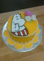 Moominmama Cake by estranged-illusions