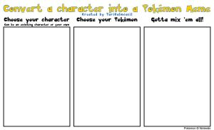 BLANK Convert a character into a Pokemon Meme by TariToons