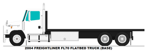 Freightliner FL70 Flatbed truck base by MisterPSYCHOPATH3001