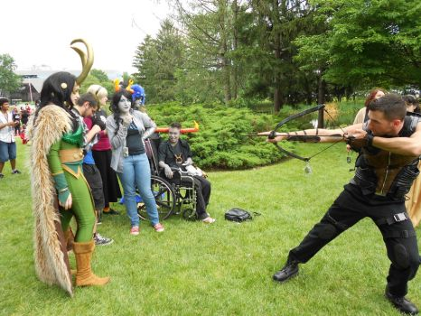 Loki and the arrow guy...At animenext 2012 by Yami8900