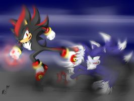 Sonic-werehog-vs-shadow-123 by alice-werehog