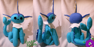 Vaporeon Plush -For Sale- by FuzzyAliens