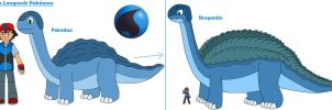 Aqua Longneck Pokemon by MCsaurus