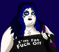 I'm Fat F@#k Off by ARTIST-SRF