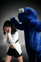 Karin vs Cookiemonster by Hannekake
