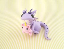Dragon with a Unicorn plush by KriannaCrafts