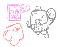 Super Meat Boy :Quick Sketch: by JamesmanTheRegenold