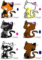Cat adoptables by Adoptablegirl