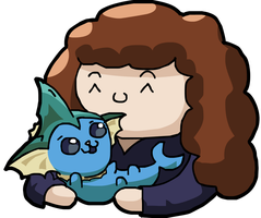 Jack and Vaporeon by GroudonMcL