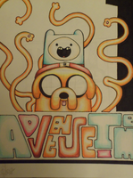 color pencil 3 finn and jake by music-missy