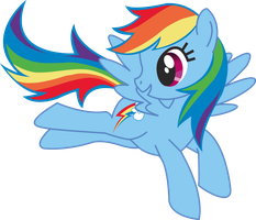 rainbow dash is a cuty girl by olinore