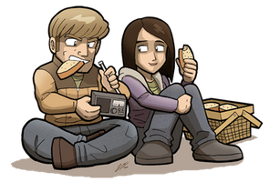 TWD: THE GAME Doug and Carley by SandikaRakhim