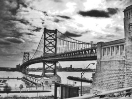 Philadelphia Bridge by terrahachi