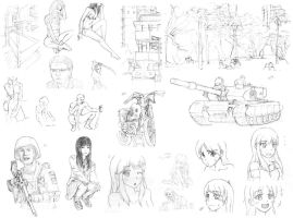 Random Studies and Sketches by halcyonWW