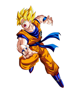 Goku ssj by Supergoku37