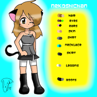 My OC -colors given- by Nek0ShiChan