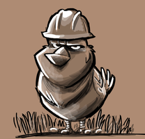 Worker Bird by Hesstoons