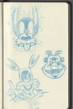 Captain Carrot, Pig-Iron and The Bunny from Beyond by cyxodus
