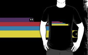 Tron Pacman Crossover T-Shirt by drg