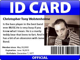 Chris ID Card by MuseLover5