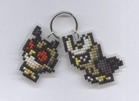 Hoothoot and Noctowl keyring by Lil-Samuu
