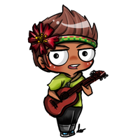 Commision: Guitar Chibi by SilveronWolf