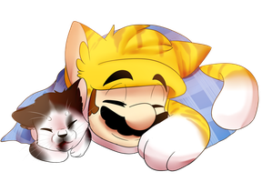 Mario and Ming ming by BaconBloodFire