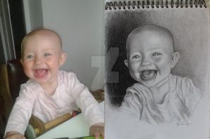 Drawing: my youngest daughter by art-by-AnnaSandgren