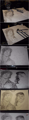 Vic And Kellin by NicOliverArt