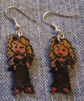 Kawaii River Song earrings by Lovelyruthie