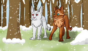 Out in the Forest of Snow - Commission for Kira by Luna-Lovegood12