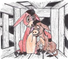Scene from 'A Donkey in Human Clothing' by ReclusiveWriter
